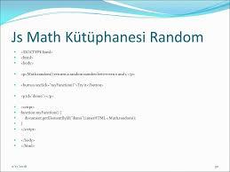 Javascript Math Ceil 0 by Hazırlayan Emin Borandağ 2 17 Numerik Değerler Kullanımı Integers