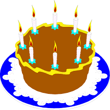 Beautiful birthday cake clipart clip art