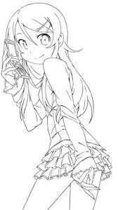 Kirino Kousaka Lineart By Mayuuki Chan On DeviantART Blank Coloring PagesColoring