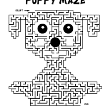 Puppy Maze Activity Sheet Free Coloring Pages For Kids