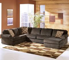 Ashley Furniture Vista Chocolate Casual 3 Piece Sectional with Right Chaise
