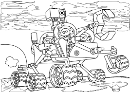 Simplistic Angry Birds Coloring Pages Image 18