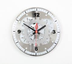 Bed Bath And Beyond Decorative Wall Clocks by Amazon Com Maple U0027s 12 Inch Moving Gear Wall Clock Glass Cover