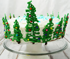 Easy Christmas Tree Cake