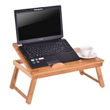 Bamboo Folding Laptop puter Notebook Table Bed Desk Bed Tray