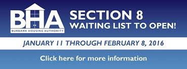 Burbank Housing Authority to Open Section 8 Waiting List
