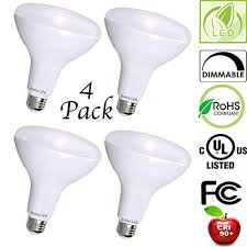 4 pack br30 bright led light bulbs by bioluz led instant on warm
