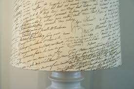 Pottery Barn Knock Off Script Lamp Shade