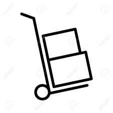 100 Hand Truck Vs Dolly Moving Or With Boxes Line Art Vector Icon For