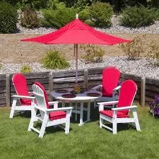 Red Adirondack Chairs Polywood by Exotic Red Polywood South Beach Adirondack Dining Set For