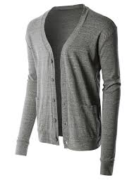 premium mens lightweight soft ribbed knit v neck cardigan sweater