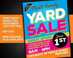 Yard Sale Sign Garage Tag Church