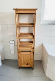 ikea badezimmerschrank echtholz massiver hochschrank