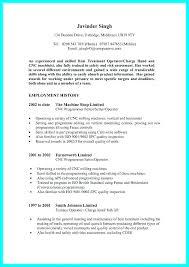 Machinist Resume Sample Manual Examples