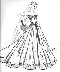 Barbie Wedding Dress Coloring Pages 4