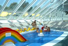 Indoor Pool With Slide USA California Oakland Swimming