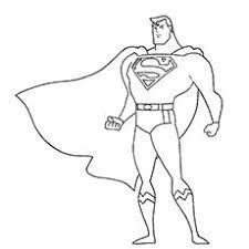 Spider Man Superhero Superman Coloring Page