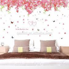 romantische kirschblüten liebe wand aufkleber schmücken neue paar zimmer schlafzimmer dekoration große größe abnehmbare vinyl tapete buy romantische