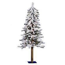 75 Slim Flocked Christmas Tree by 4ft Pre Lit Artificial Christmas Tree White Flocked Clear Lights