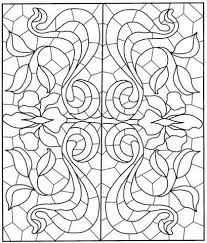 Click To See Printable Version Of Square Mandala With Stained Glass Pattern Coloring Page