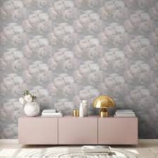 livingwalls vliestapete new walls tapete mit romantischen weiß grau rosa