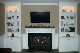 Living Room With Fireplace And Bookshelves by Bookcase Modern Fireplace Mantel Living Room Modern With Custom