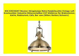 big sale maxmer h ngele retro pendelleuchte vintage loft