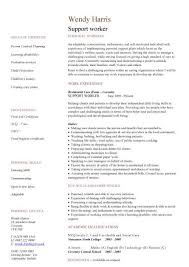 Support Worker Cv Sample Rh Dayjob Com Resume Example Disability Senior