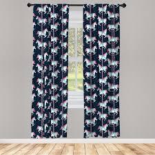 gardine fensterbehandlungen 2 panel set für wohnzimmer schlafzimmer dekor abakuhaus baby karussell pferde kinder kaufen otto