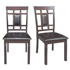 "Giantex Set Of 2 Dining Chairs Wood Armless Chair Home Kitchen Dining Room  High Back Chairs W/PU Leather Padded Seat (19""×20""×37.5"