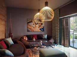 wandgestaltung in braun 50 wohnzimmer wohnideen