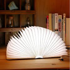 Lumio Book Lamp Shark Tank by Upgraded Excelvan Wooden Folding Usb Rechargeable Book Light 500