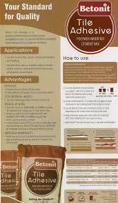 tile adhesive polymer modified cement mix