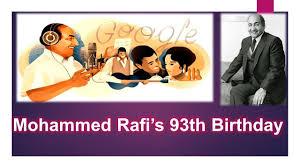 Mohammed Rafi s 93th Birthday Google Doodle Mohammed Rafi