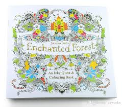 Secret Garden Lost Ocean An Inky Treasure Hunt And Coloring Book Enchanted Forest With Coloured Pencils Relax Graffiti Painting DHL