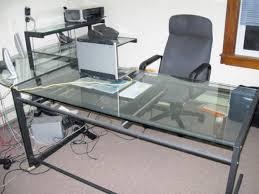 Glass Top Desk fice Depot