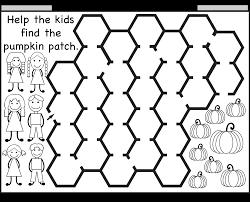 Halloween Brain Teasers Math by Pumpkin Patch Maze U2013 2 Worksheets Free Printable Worksheets