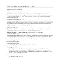 Resume Objective Nursing Student Nurse For Examples