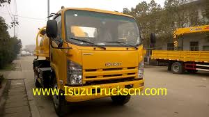 6,000L Vacuum Sewage Trucks Isuzu Vacuum Tanker Trucks For Sale ...