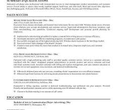 Summary Examples Of Resumes Information