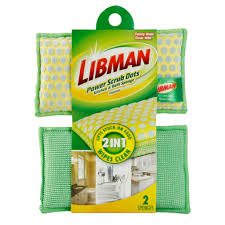 Deck Scrub Brush Home Depot by Power Scrub Dots Kitchen U0026 Bath Sponge U2013 Libman Com