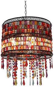 lllqqq pendelleuchte pastoral rustikal buntglas dekoration