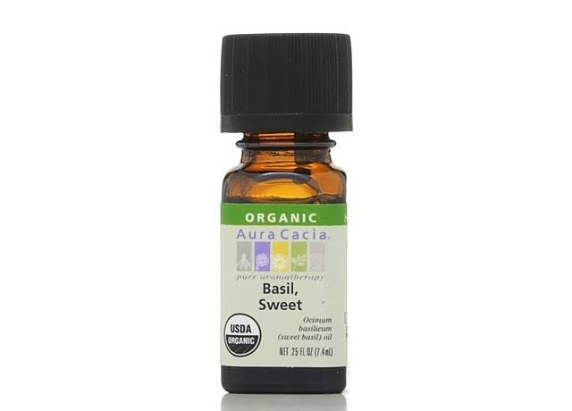 Aura Cacia Organic Essential Oil - Basil Sweet, 0.25oz