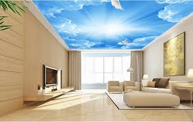3d ceiling tiles blue sky and white clouds custom hd 3d ceiling