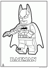 Batman Lego Coloring Pages New Year Color