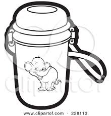 Bottle Coloring Page with regard to School Water Bottle Clipart Black And White