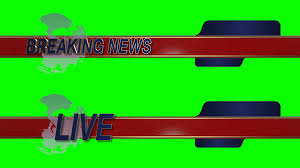 Breaking News Live Sliding Lower Third With Globe On A Green Screen Background