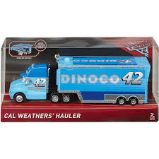 100 Disney Mack Truck Hauler Pixar Cars Cars 3 Cal Weathers Diecast Car Mattel Toys