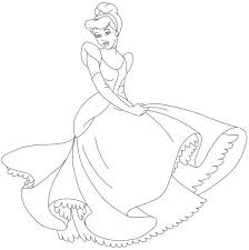 Coloring Pages Cinderella Mice Free Disney Of Cinderellas Carriage Line Drawings