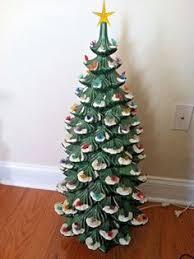 Vintage Large Atlantic Mold Ceramic Christmas Tree 35